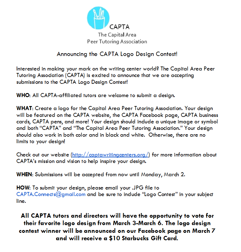 Announcing the CAPTA Logo Design Contest! | The Capital Area Peer ...
